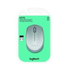 Mouse Óptico, Logitech, 910-005334, M170, inalámbrico, USB, 1000DPI, Plateado