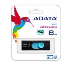 ADATA - Memoria USB 2.0, Adata, AUV220-8G-RBKBL, 8 GB, Negro - Azul