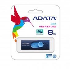 ADATA - Memoria USB 2.0, Adata, AUV220-8G-RBLNV, 8 GB, Azul