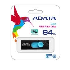 ADATA - Memoria USB 2.0, Adata, AUV220-8G-RBLNV, 64 GB, Negro - Azul