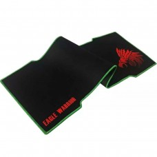 Mouse Pad, Eagle Warrior, AMOUSEPAD8035EGW,  800 x 350 mm, Compatible con mouse óptico y láser, Negro - Rojo