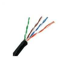 WAM - Cable de Red, WAM, CAT5E-OUT-NEGRO, Cat5e, UTP, 305 m, Sin Relleno, Cubierta Exterior de PVC, Negro