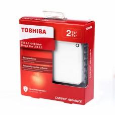 Disco Duro Externo, Toshiba, HDTC920XW3AA, 2TB, USB 3.0, 2.5pulgadas, Blanco