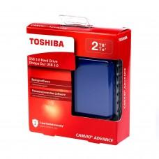 Disco Duro Externo, Toshiba, HDTC920XL3AA, 2TB, USB 3.0, 2.5pulgadas, Azul