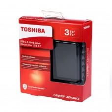 Disco Duro Externo, Toshiba, HDTC930XK3CA, 3TB, USB 3.0, 2.5 pulgadas, Negro