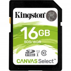 KINGSTON - Memoria SDHC, Kingston, SDS/16GB, SDHC, 16 GB, Clase 10