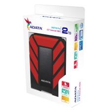 Disco Duro Externo, Adata, AHD710P-2TU31-CRD, 2TB, USB 3.1, 2.5pulgadas, Negro-Rojo