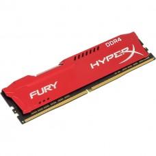 Memoria RAM, Kingston, HX424C15FR2/8, UDIMM, 8 GB, DDR4, 2400MHz, CL 15, Rojo,  HyperX Fury