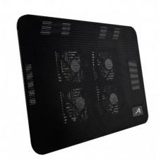 Base Enfriadora, Acteck, AC-916561, Laptops 17 Pulgadas, 4 Ventiladores, Negro