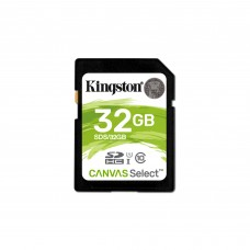 KINGSTON - Memoria SD, Kingston, SDCS/32GB, UHS-I U1, 32 GB, Clase 10, Canvas Select 32 GB