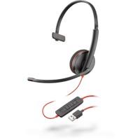 Audífonos con micrófono, Plantronics, 209744-101 C3210 USB-A, Alambrico, USB, Negro