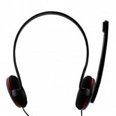 Audífonos con Micrófono para PC, True Basix, TB-916721, Diadema, Negro
