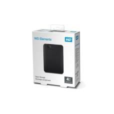 Disco Duro Externo, Western Digital, WDBU6Y0040BBK-WESN, Elements, 4TB, USB 3.0, 2.5 Pulgadas, Negro