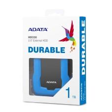 Disco Duro Externo, Adata, AHD330-1TU31-CBL, HD330, 1 TB, USB 3.1, Slim, Azul
