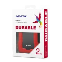 Disco Duro Externo, Adata, AHD330-2TU31-CRD, HD330, 2 TB, USB 3.1, Slim, Rojo