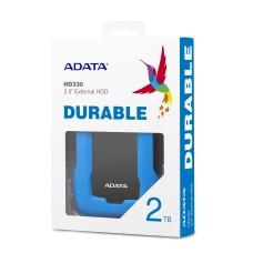 ADATA - Disco Duro Externo, Adata, AHD330-2TU31-CBL, HD330, 2 TB, USB 3.1, Slim, Azul