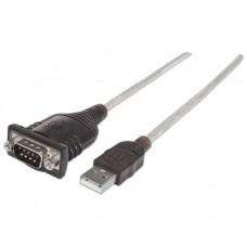 MANHATTAN - Convertidor Serial a USB, Manhattan, 151832, DB9, 1.8m
