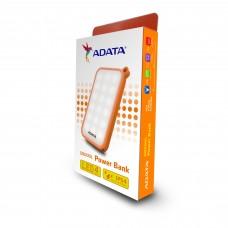 Bateria Portatil, Adata, AD8000L-5V-COR, 8000mAh, Linterna LED, USB, Naranja