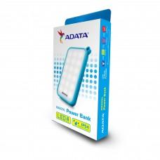 Batería Portátil, Adata, AD8000L-5V-CBL, Powerbank, Linterna LED, Blanco/Azul