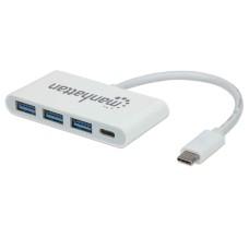 MANHATTAN - Concentrador USB, Manhattan, 163552, HUB, USB C, 3 Puertos USB A