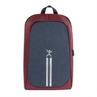 Mochila, Perfect Choice, PC-083498, Para Laptop de hasta 15.6 Pulgadas, Rojo/Azul, Antirrobo