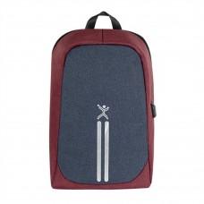Perfect Choice - Mochila, Perfect Choice, PC-083498, Para Laptop de hasta 15.6 Pulgadas, Rojo/Azul, Antirrobo