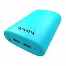 Batería Portátil, Adata, AP10050V-DUSB-CBL, Linterna LED, Powerbank, 10050 mAh, Azul