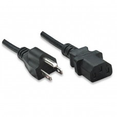 MANHATTAN - Cable de Poder, Manhattan, 323338, 3m, Negro