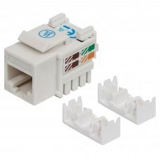 INTELLINET - Conector Jack de Impacto Intellinet Cat5E Blanco