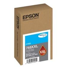 EPSON - Cartucho de Tinta, Epson, T748XXL220-AL, Cian, Alta Capacidad
