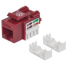Conector Jack de Impacto Intellinet Cat5E Rojo