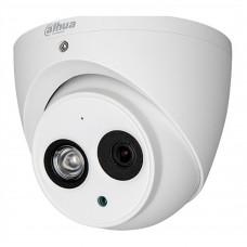 DAHUA - Cámara de vigilancia, Dahua, HDAW1200EMA36, Tipo Domo, 2MP, IR 50 m, Blanco