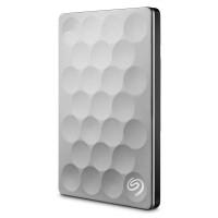 Disco Duro Externo, Seagate, STEH2000100, 2TB, USB 3.0, Plateado/Negro