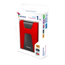 Disco Duro Externo, Adata, AHD650-1TU31-CRD, HD650, 1 TB, USB 3.1, Negro