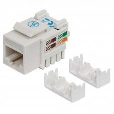Conector Jack de Impacto Intellinet Cat6 Blanco