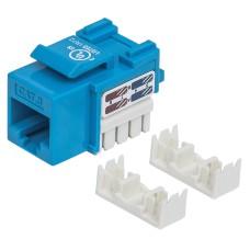 Conector Jack de Impacto Intellinet Cat6 Azul