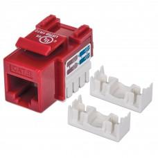 Conector Jack de Impacto Intellinet Cat6 Rojo