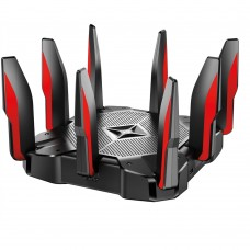 Router, TP-Link, ARCHER C5400X, Inalámbrico, Triple Banda, 1x2.4 GHz y 2x5GHz, 8 puertos, Gigabit Ethernet, USB, Negro