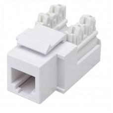 Conector Jack de Impacto Intellinet Telefonia Cat3 Blanco