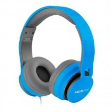ACTECK - Audífonos con micrófono, Mobifree, MB-916363, Alambrico, 3.5 mm, Azul Celeste