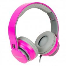 Audífonos con microfono, Mobifree, MB-916370, 3.5 mm, Rosa
