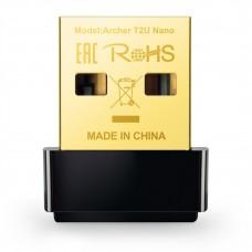 TP LINK - Adaptador Nano USB, TP-Link, ARCHER T2U NANO, Hasta 600Mbps, Negro