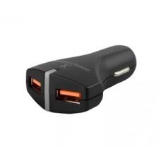 Perfect Choice - Cargador para Automóvil, Perfect Choice, PC-240778, Puerto USB, Carga rápida 3.0, Negro