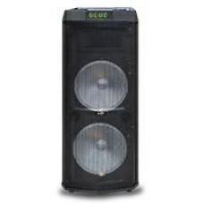 GHIA - Bocina, Ghia, GSP-212, 12 pulgadas, recargable, Bluetooth, USB, MicroSD, Auxiliar, Negro