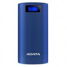 ADATA - Batería Portátil, Adata, AP20000D-DGT-5V-CDB, Recargable y linterna LED, Azul
