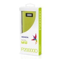 ADATA - Batería Portátil, Adata, AP20000D-DGT-5V-CYL, Power Bank, 20000 mAh, Amarillo