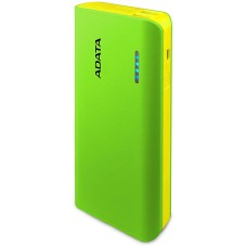 ADATA - Batería Portátil, Adata, APT100-10000M-CGRYL, Power Bank, 10000 mAh, Linterna LED, USB, Verde/Amarillo