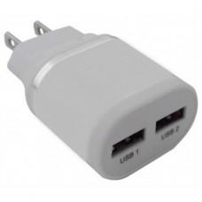 BROBOTIX - Cargador USB, Brobotix, 161264B, 2 puertos, 2.1 A, Blanco