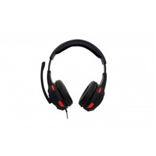 Audífonos con Micrófono, Naceb, NA-0304R, Alámbrico, Hi-Fi, Negro/Rojo