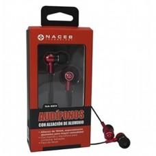 Audífonos, Naceb, NA-623ROJ, 3.5 mm, Rojo